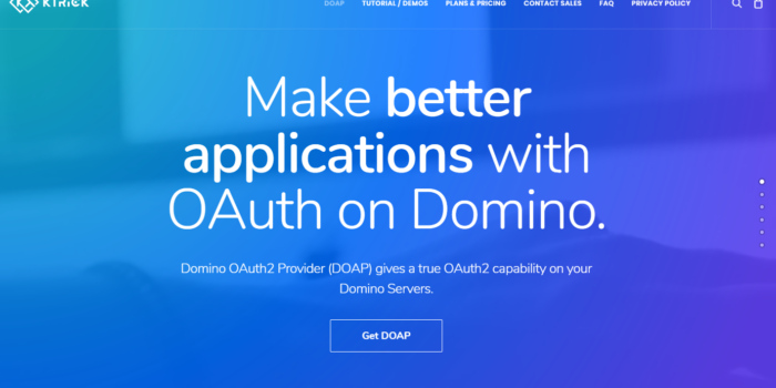 Domino OAuth2 Provider Beta Release by KTrick
